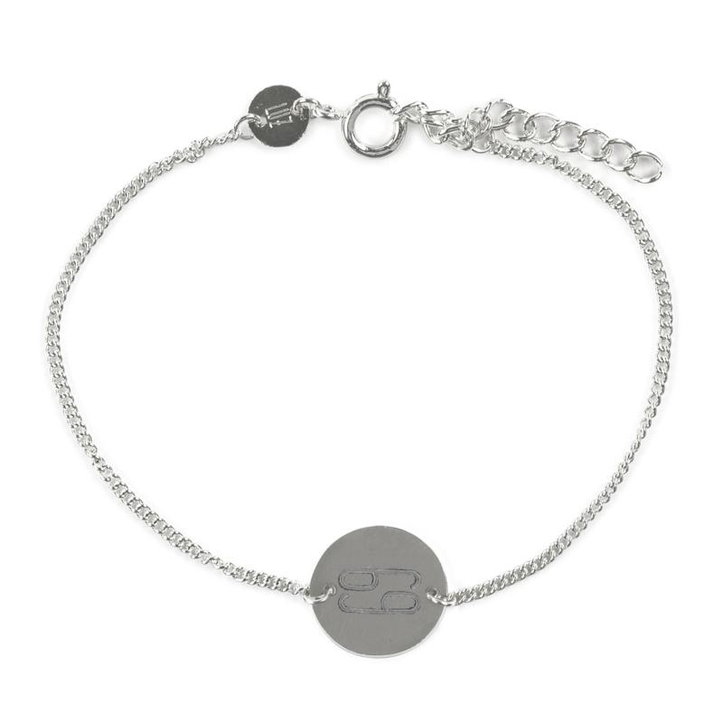 Sterrenbeeld armband kreeft - zilver