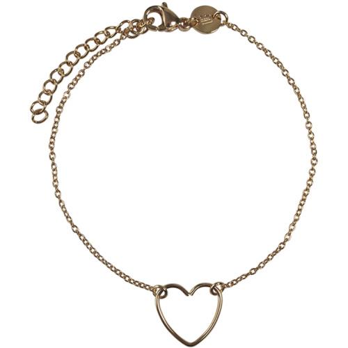 Handmade heart armbandje - goud