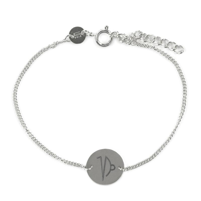 Sterrenbeeld armband steenbok - zilver