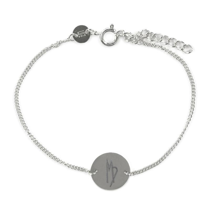 Sterrenbeeld armband maagd - zilver