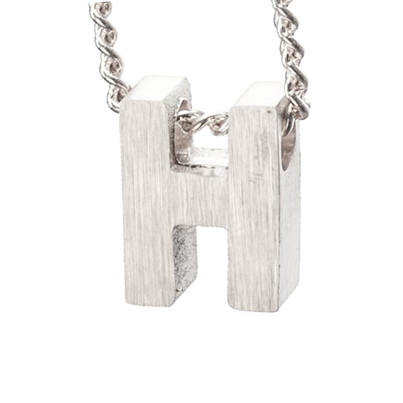 Bedel letter H - zilver