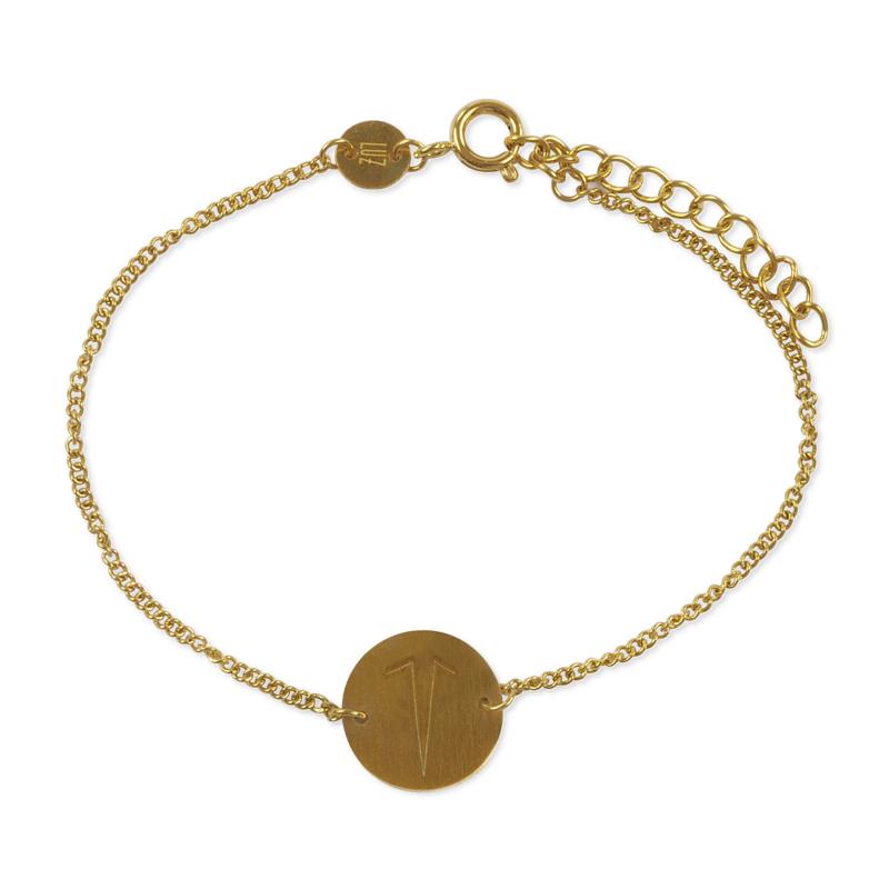 Sterrenbeeld armband ram - goud