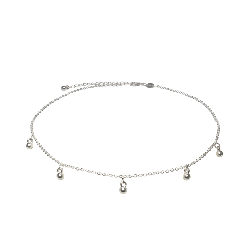 Little orbs ketting - zilver