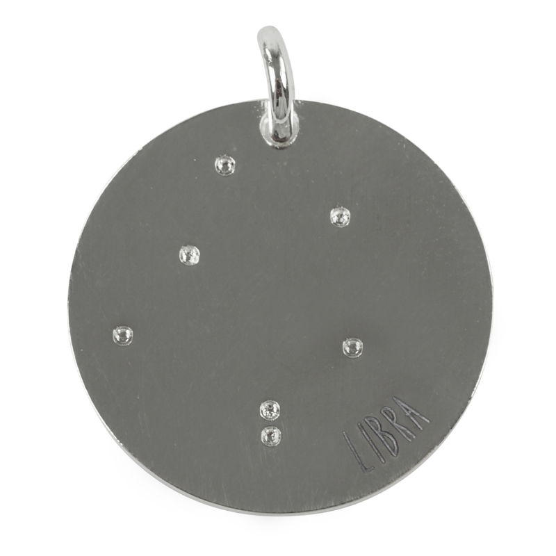 Weegschaal zodiac sky - zilver