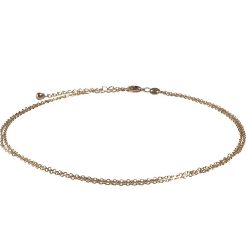 Double chain choker - goud