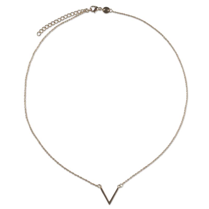 V necklace - goud