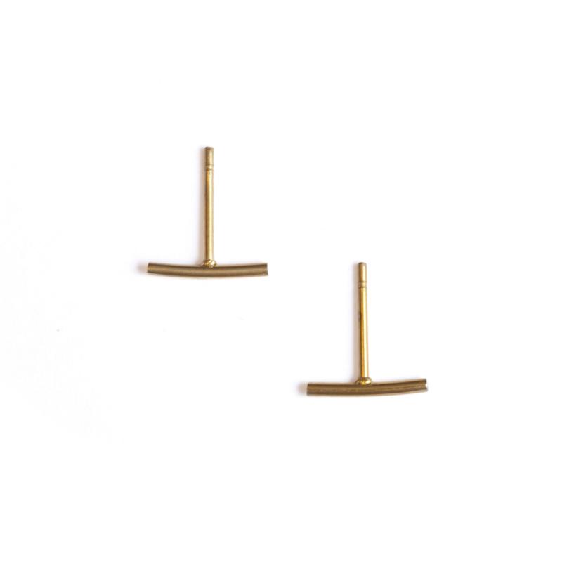 Stud oorbellen - goud