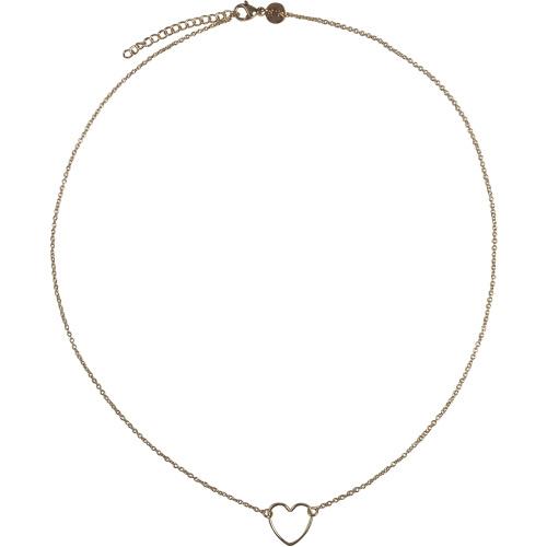Handmade heart ketting - goud