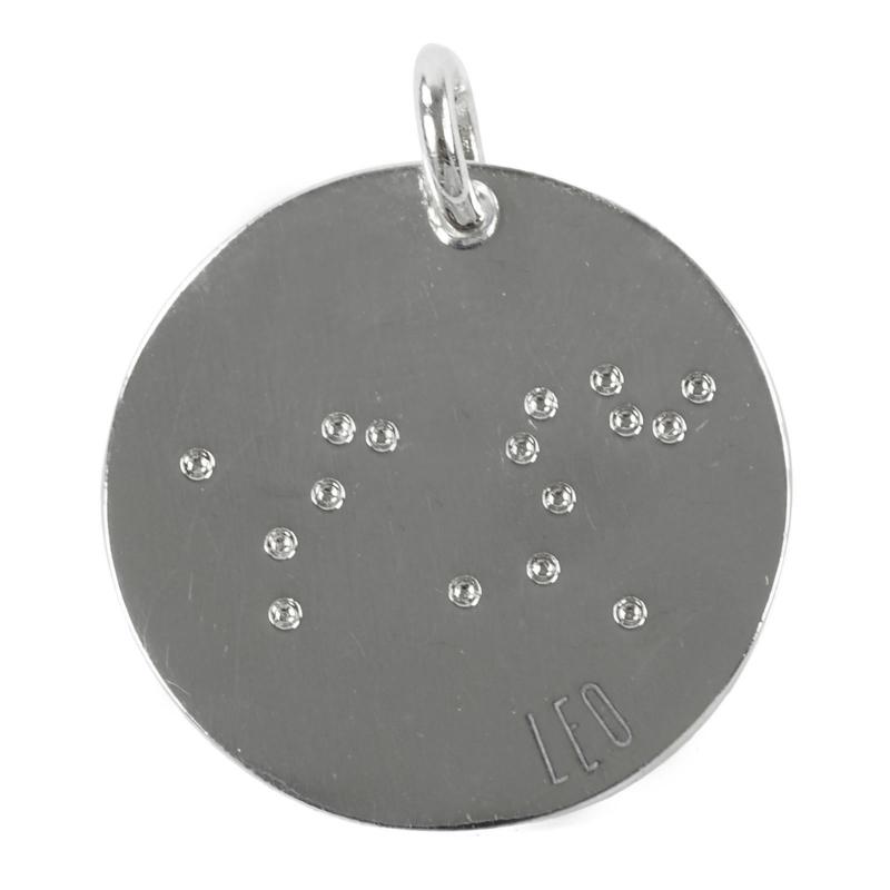 Leeuw zodiac sky - zilver