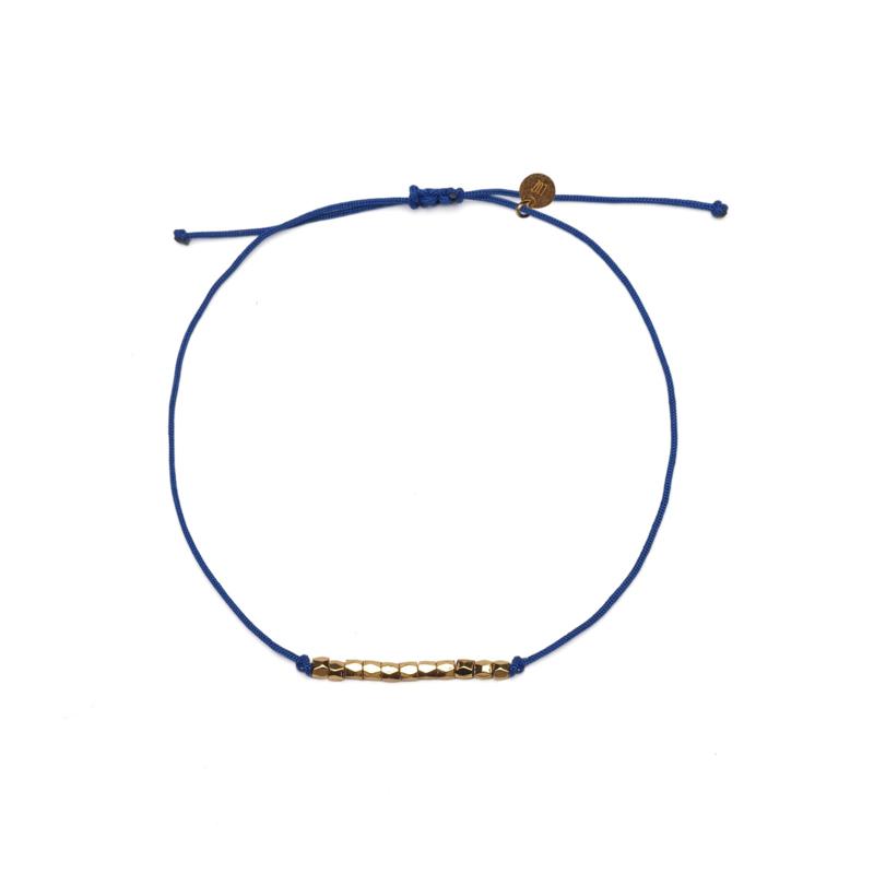 Friendship rope armbandje - blauw