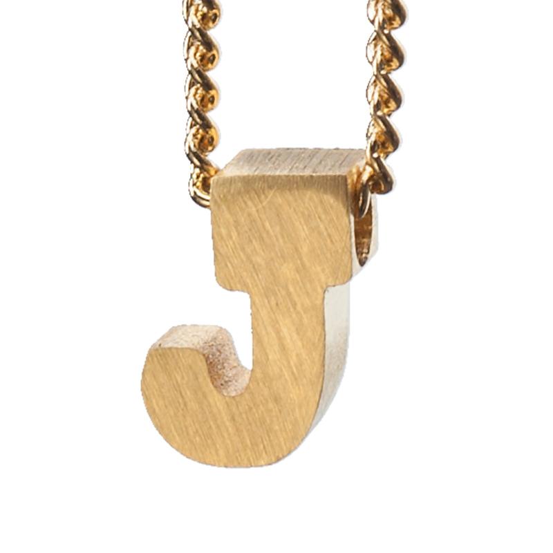Bedel letter J - goud
