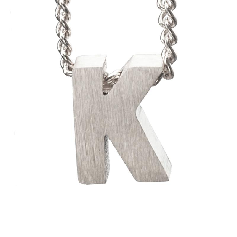 Bedel letter K - zilver
