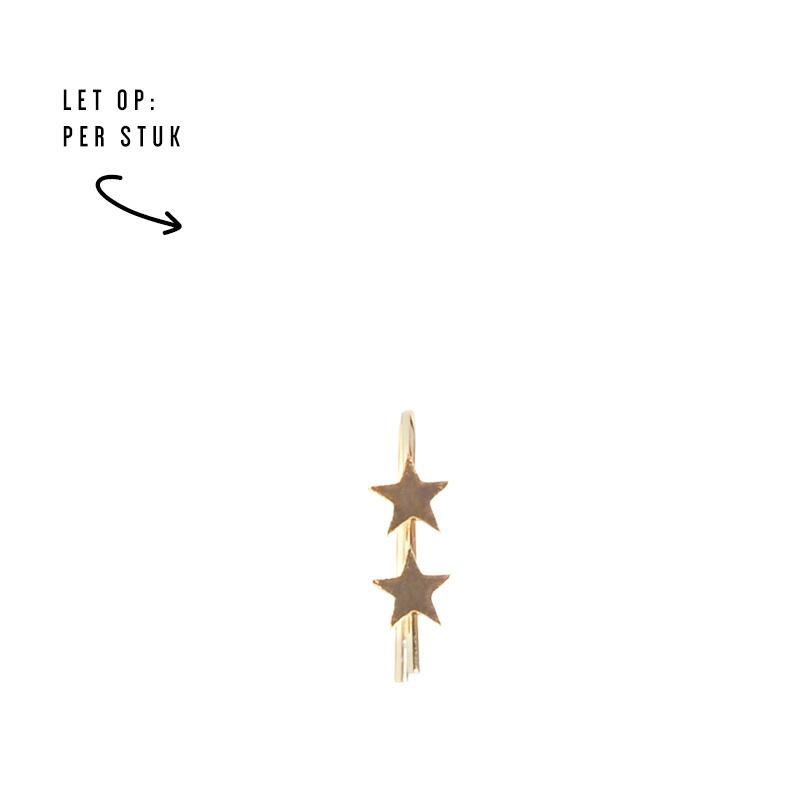 Double stars oorbel - goud