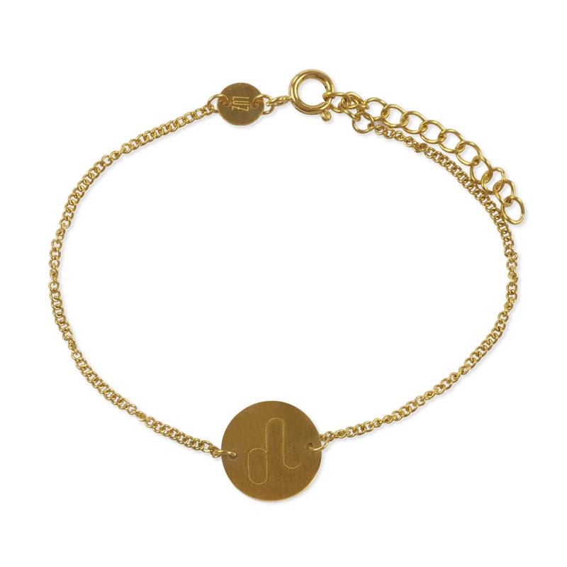 Sterrenbeeld armband leeuw - goud
