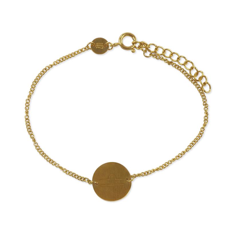 Sterrenbeeld armband weegschaal - goud