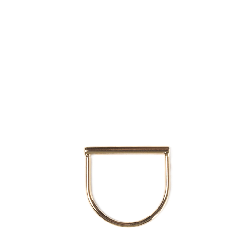 Tubular ring - goud