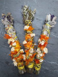 Flower Smoke Wand // Oranje // 15 cm