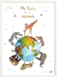 Kinderkamer poster | Wild World | 30 x 40 cm