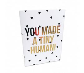Postkaart |  tiny human