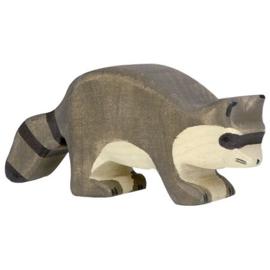 Holztiger houten wasbeer (80190)