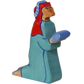Holztiger kerststal Balthasar (80295)