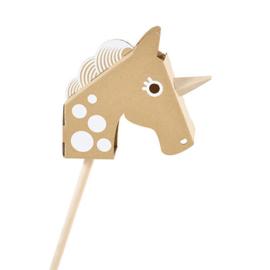 Stokpaard karton | eenhoorn