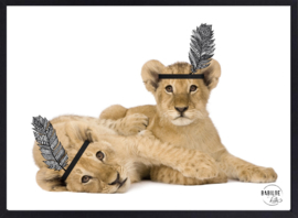 Kinderkamer poster |  leeuwen | 50 x 70 cm