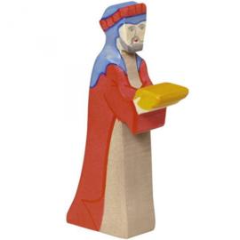 Holztiger kerststal Caspar (80293)