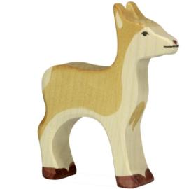 Holztiger houten hert (80090)