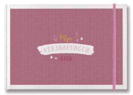 Verjaardagen invulboek | roze