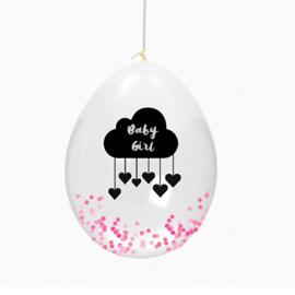 Confetti ballonnen baby | roze
