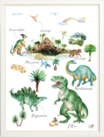 Kinderkamer poster | Dino World | 30 x 40 cm