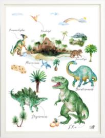 Kinderkamer poster   Dino World   30 x 40 cm