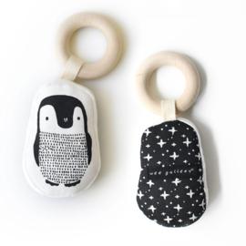 Wee Gallery | Bijtring voor baby's (bio katoen) | pinguin