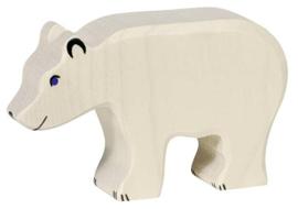 Holztiger houten ijsbeer (80207)