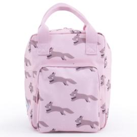 Kinderrugzak / schooltas vosjes roze