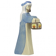 Holztiger kerststal herder (80303)