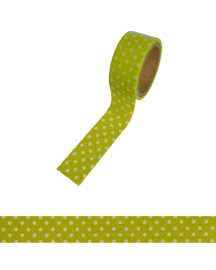 Polkadot washi tape lime