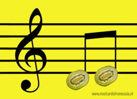 Kiwi musical note