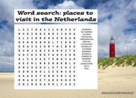 Woordzoeker ansichtkaart  Toerist