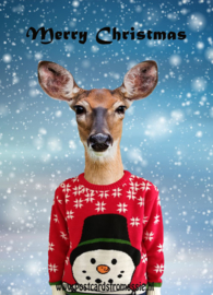 Deer with Christmas sweater