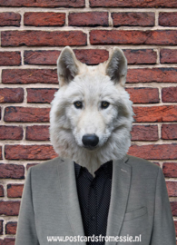 Wolf in suit