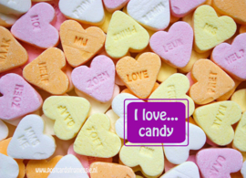 I love...candy ansichtkaart