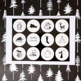 Adventskalender met 24 ansichtkaarten