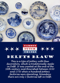 Famous Dutch Things - Delfts Blauw