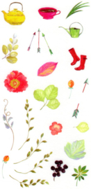Flower and plant stickers 2