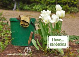 I love...gardening ansichtkaart