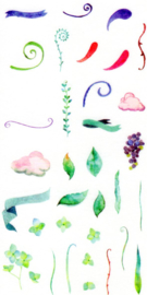 Flower and plant stickers 4