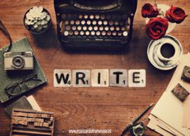 Ansichtkaart Write