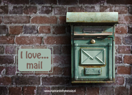 I love...mail ansichtkaart